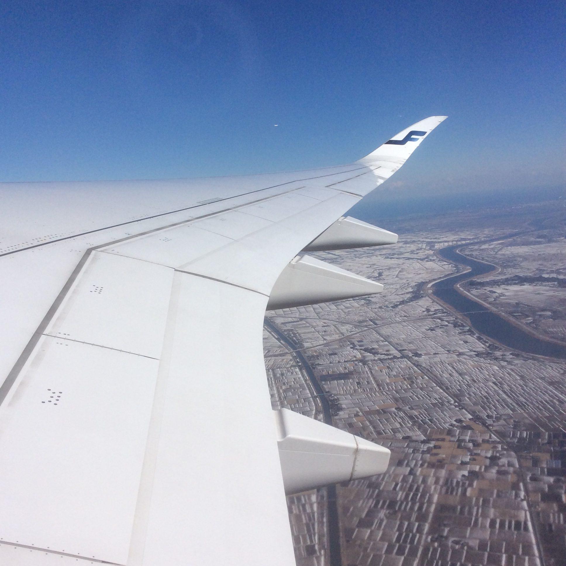 1月26日 凍てつく日本上陸を成田→ヘルシンキ→マドリードへ。